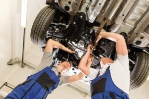 Car maintenance under the engine