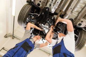 Car maintenance under the engine