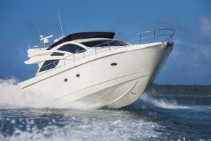 cruising on a yacht